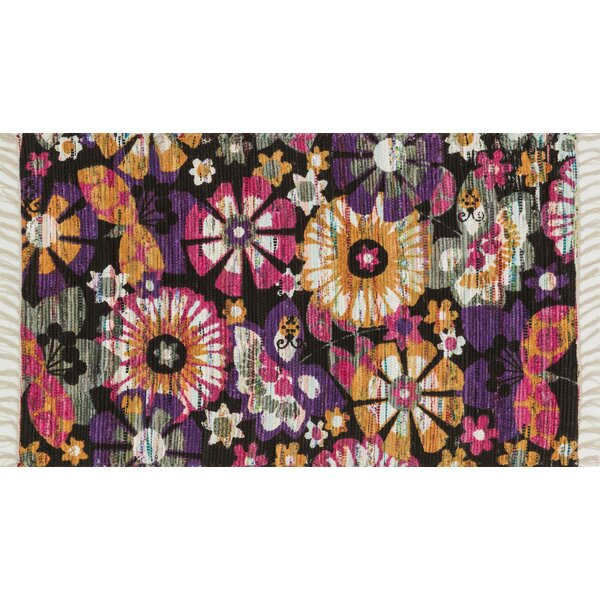 Zabel Violet/Gold Area Rug by Bloomsbury Market