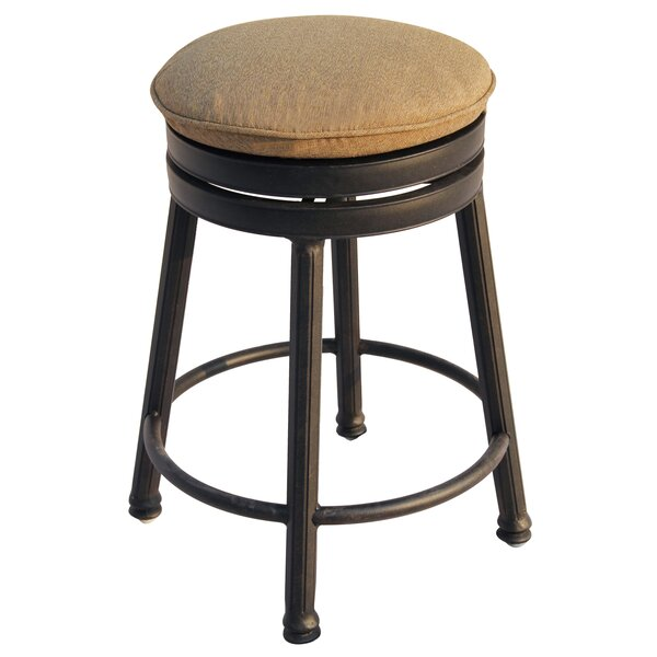 Aberdeen 26 Backless Patio Bar Stool with Cushion by Alcott Hill