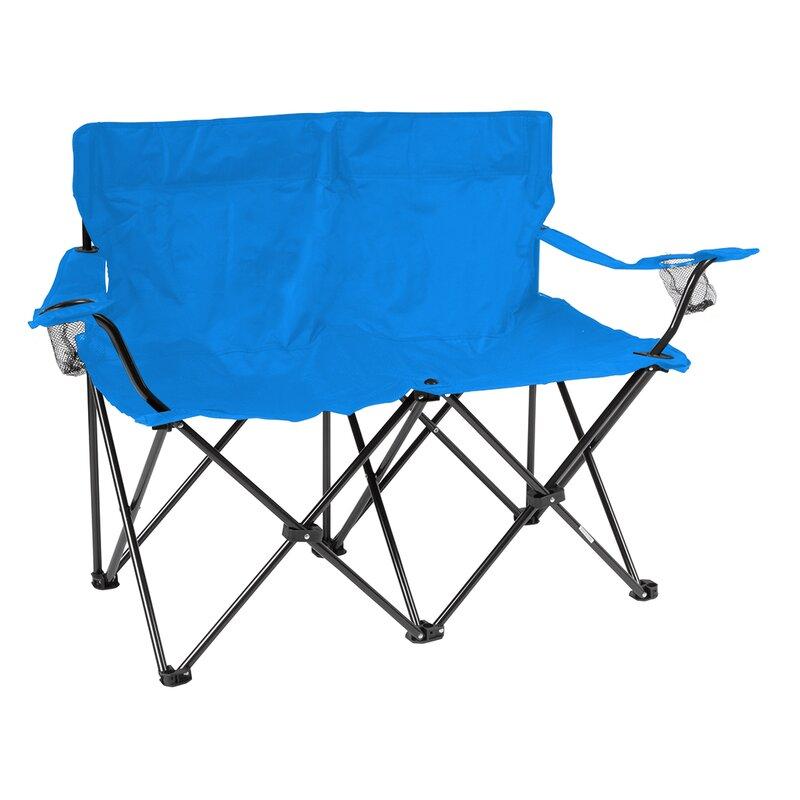 Loveseat Folding C&ing Chair  sc 1 st  Wayfair & Trademark Innovations Loveseat Folding Camping Chair   Wayfair