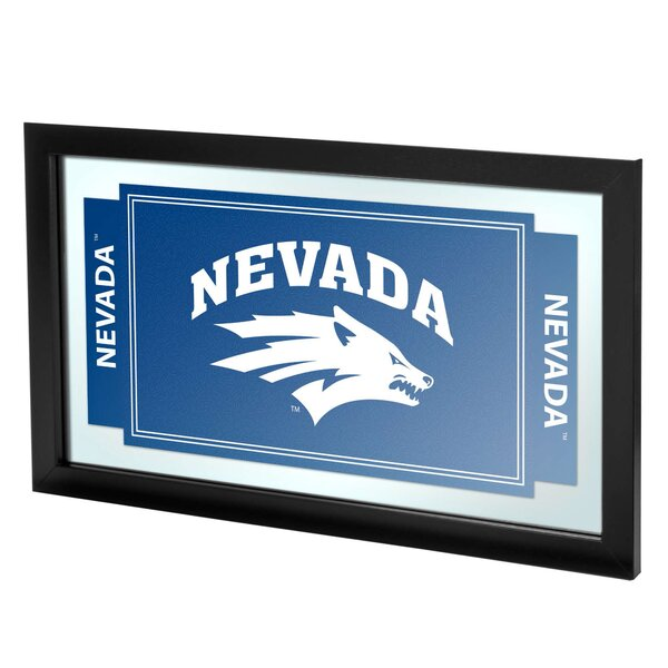 University of Nevada Framed Logo Accent Mirror by Trademark Global