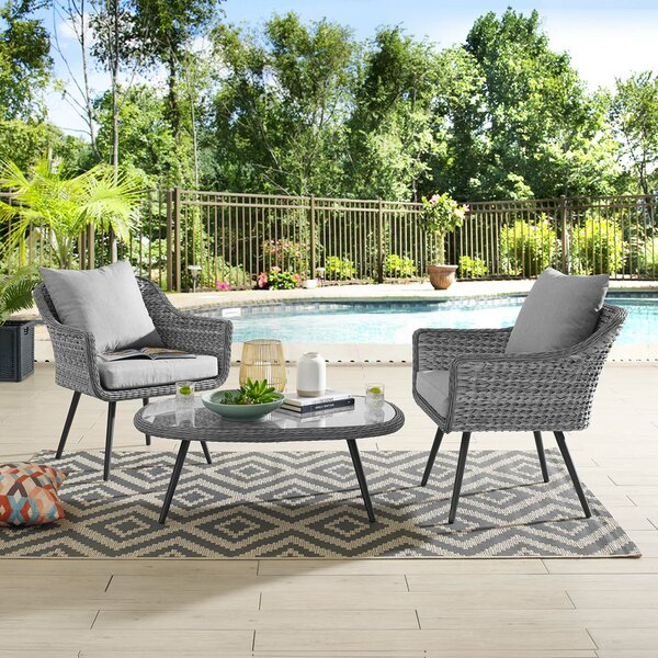 Thayne 3 Piece Sofa Seating Group with Cushions by Ivy Bronx