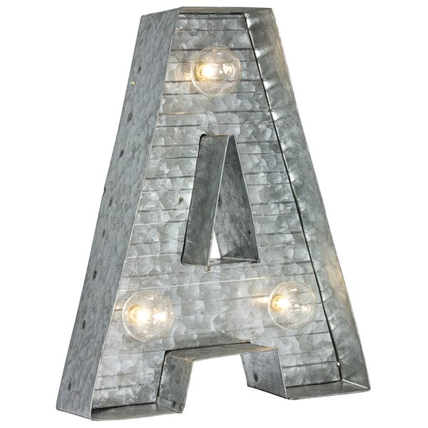 Letter A Metal Sign LED Marquee Sign by Williston Forge