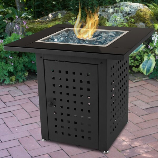 Lockwood Steel Propane Gas Fire Pit Table by Pleasant Hearth