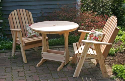 Cedar Fanback Bistro Set by Creekvine Designs