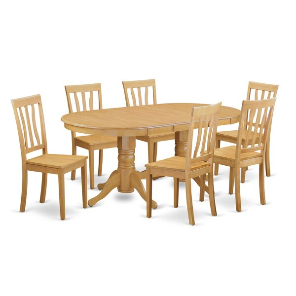 Rockdale 7 Piece Solid Wood Dining Set by Darby Home Co
