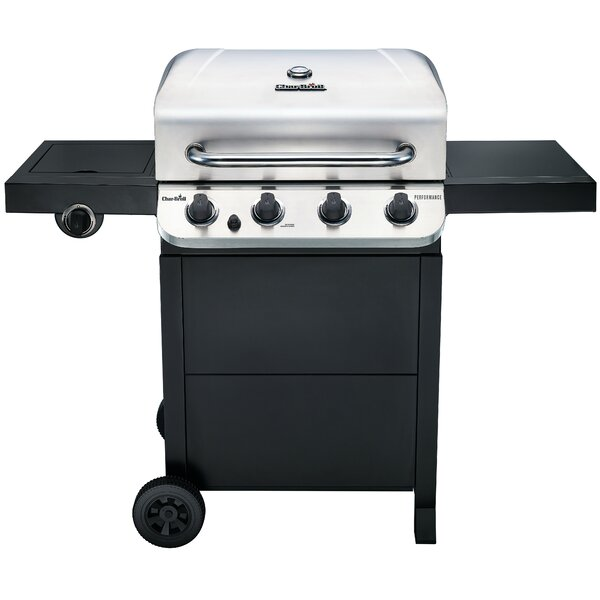 Performance 4-Burner Propane Gas Grill with Side B