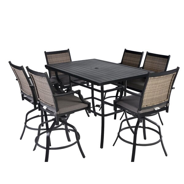 Yost 7 Piece Bar Height Dining Set With Cushions By Alcott Hill