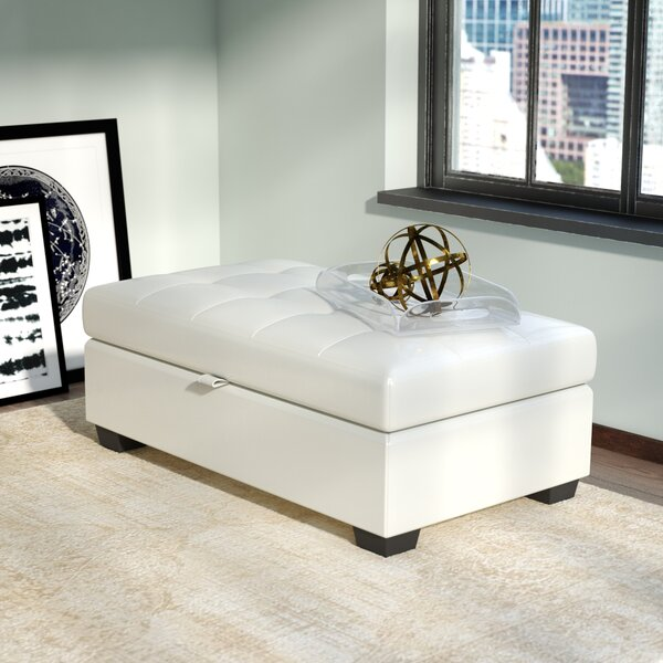 Adelia Tufted Storage Ottoman by Wade Logan Wade Logan
