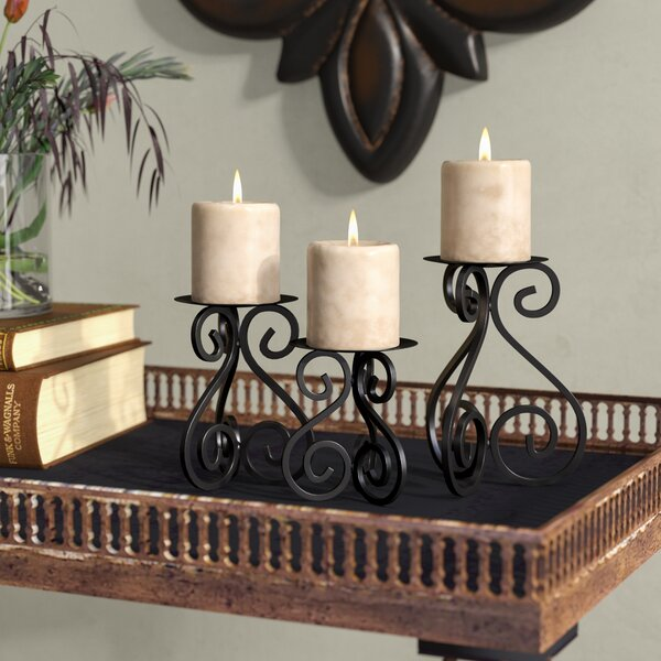 3 Piece Iron Candlestick Set by Fleur De Lis Livin
