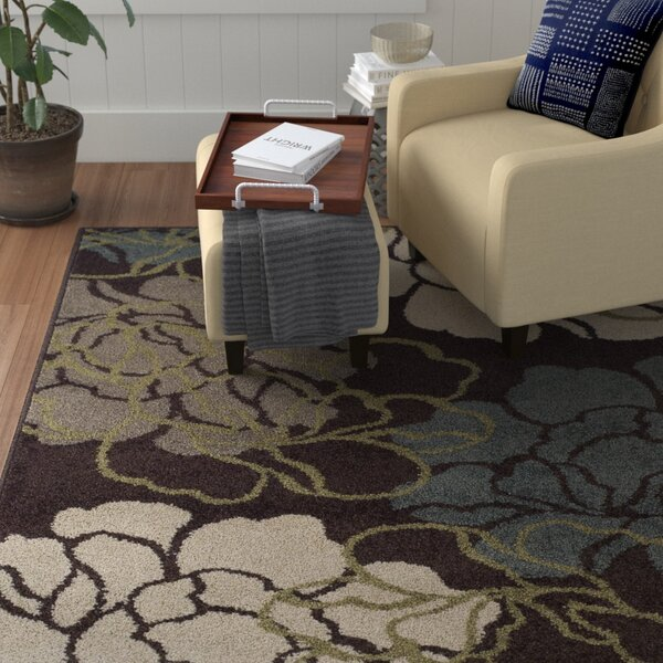 Massey Chocolate Area Rug by Winston Porter