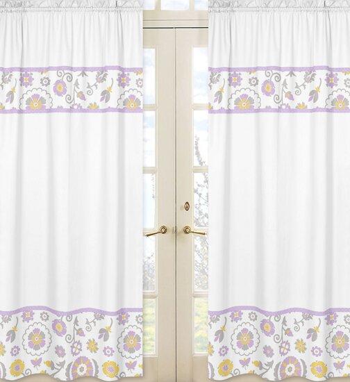 Suzanna Nature/Floral Semi-Sheer Rod pocket Curtain Panels (Set of 2) by Sweet Jojo Designs