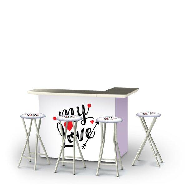 Zaphod Valentines My Love 5-Piece Bar Set by East Urban Home