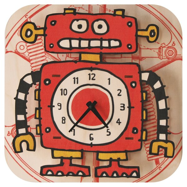 Robot Wall Clock by Modern Moose