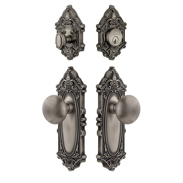 Grande Victorian Single Cylinder Knob Combo Pack by Grandeur