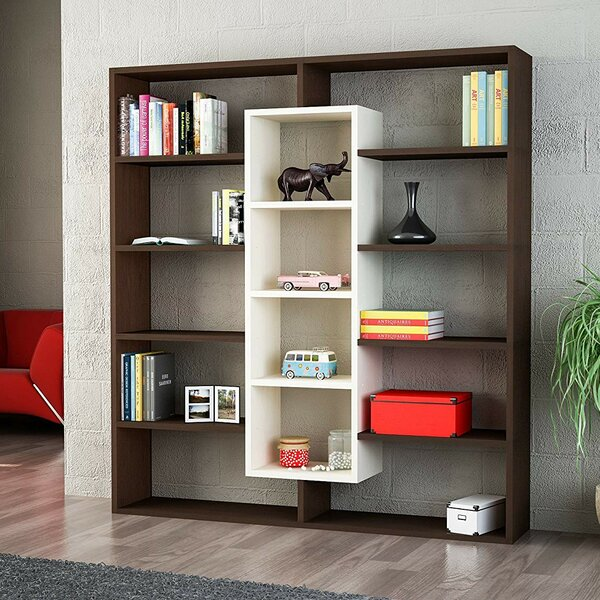 Seward Design Ample Geometric Bookcase by Ebern Designs