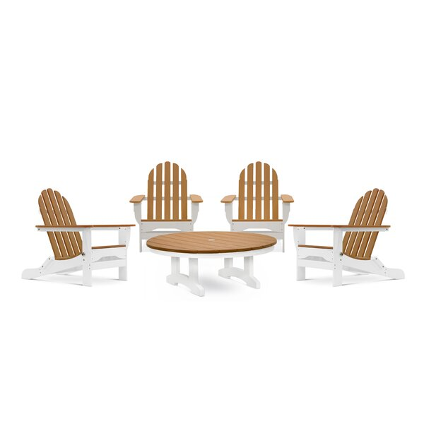 Clearwell 5 Piece Multiple Chairs Seating Group by Rosecliff Heights