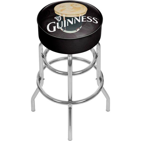 Guinness Smiling Pint 31 Swivel Bar Stool by Trademark Global