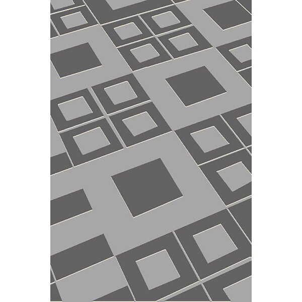 Allegan Abstract Gray Area Rug by Ivy Bronx
