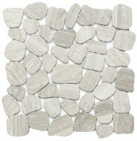 Cultura Pebbles 12 x 12 Marble by Emser Tile