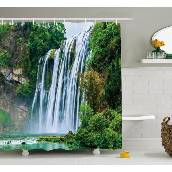 Landscape Green Botanic Nature Shower Curtain by East Urban Home