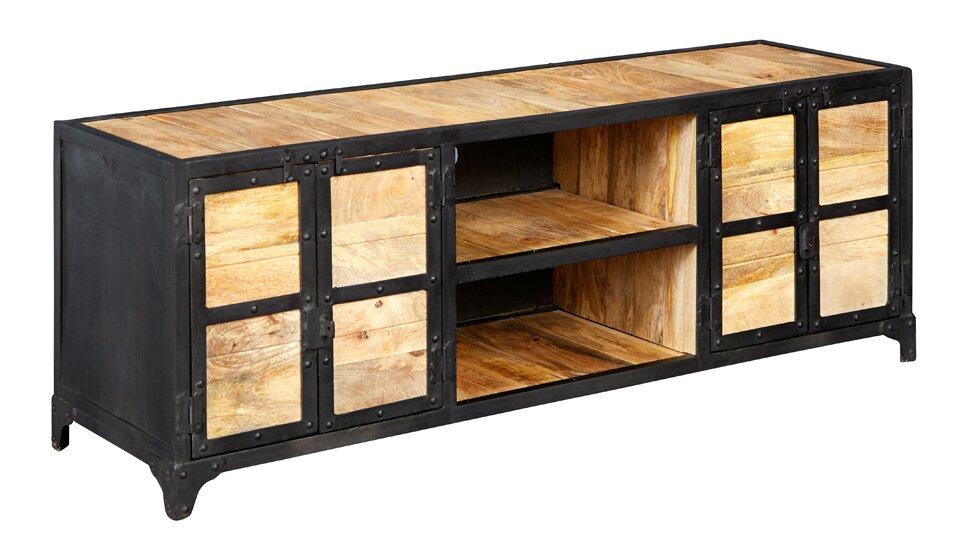 loftdesigns tv lowboard cascade industrial bewertungen. Black Bedroom Furniture Sets. Home Design Ideas