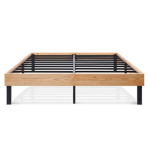 Classic Soild Wood Platform Bed Frame by Alwyn Home
