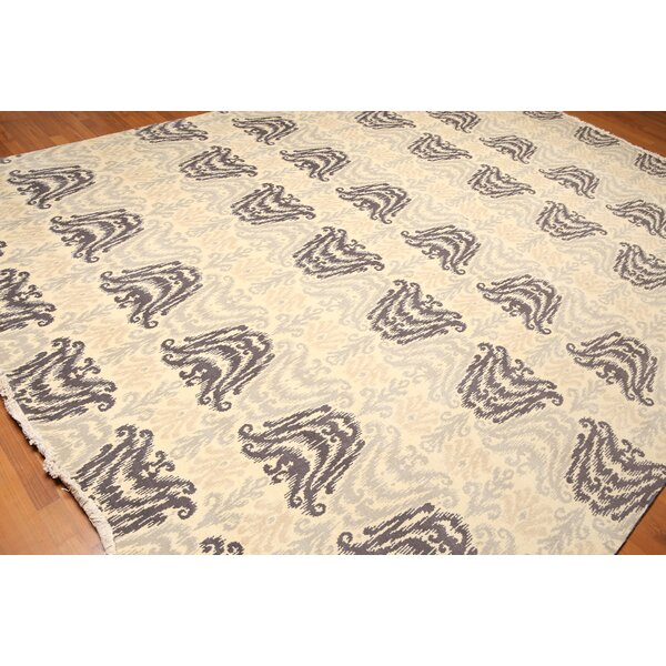 One-of-a-Kind Wyndemere Pile Hand-Knotted Wool Beige/Gray Area Rug by Canora Grey