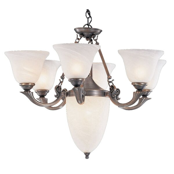St. Tropez 9-Light Shaded Wagon Wheel Chandelier By Classic Lighting