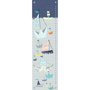 Paper Boat by Mara Penny Canvas Growth Chart by Oopsy Daisy