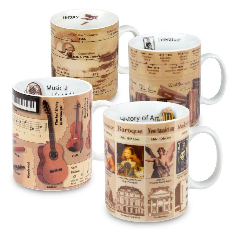 Konitz 4 Piece Knowledge Assorted Mug Set Wayfair