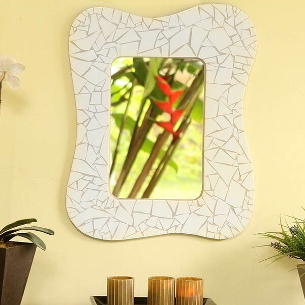 Fair Trade Mosaic Ceramic Wall Mirror by Novica