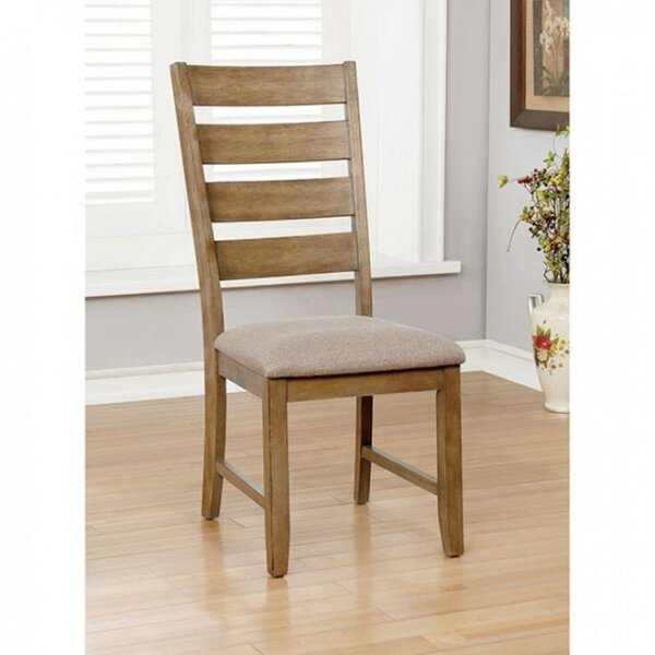 Weidman Wooden Side Upholstered Dining Chair (Set of 2) by Millwood Pines