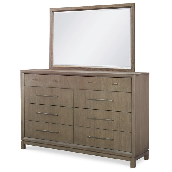 Highline By Rachael Ray Home 9 Drawer Double Dress with Mirror by Rachael Ray Home