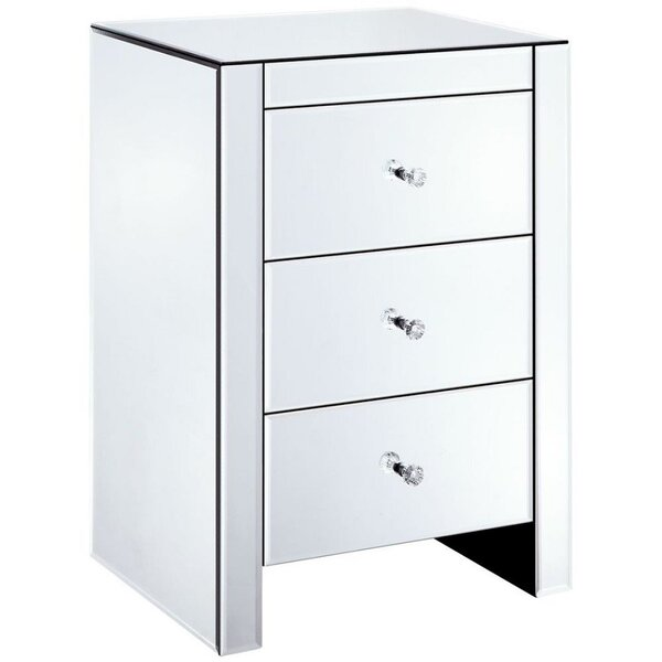 Baryzhikova 3 Drawer Nightstand by House of Hampton