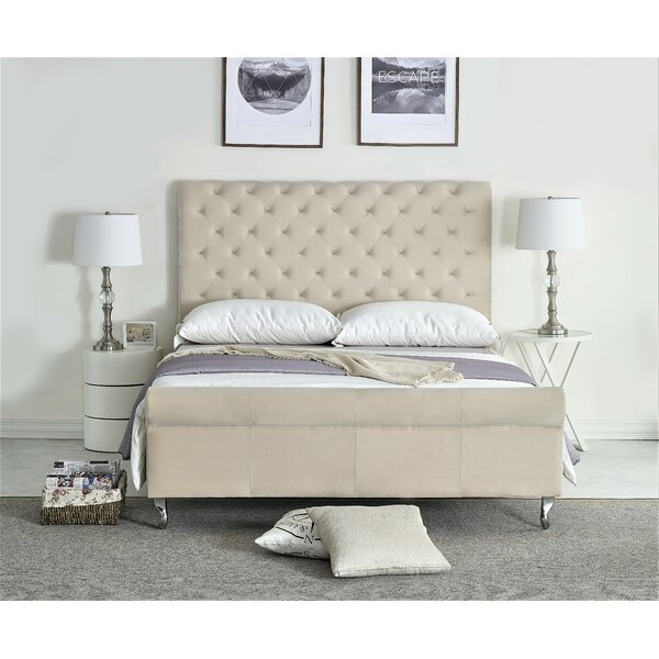 Collinsworth Upholstered Sleigh Bed by Everly Quinn