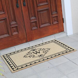Bradford Anti Shred Treated Non-Skid Entry Monogrammed Double Doormat