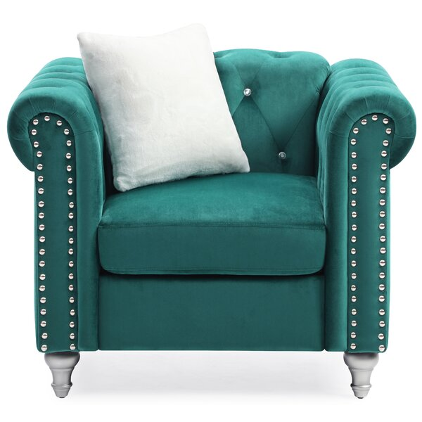 Lassiter Tufted Chesterfield Chair by House of Hampton