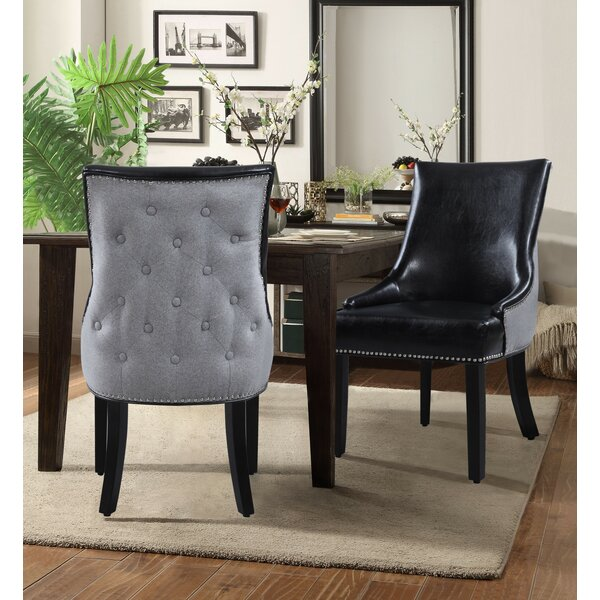 Luzerne Upholstered Dining Chair (Set of 2) by Rosdorf Park