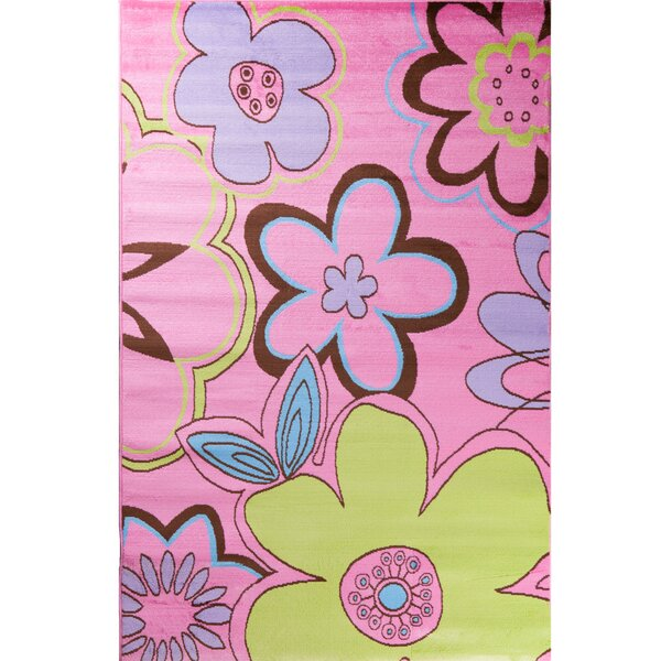 Alisa Groovy Flowers Kids Area Rug by Threadbind