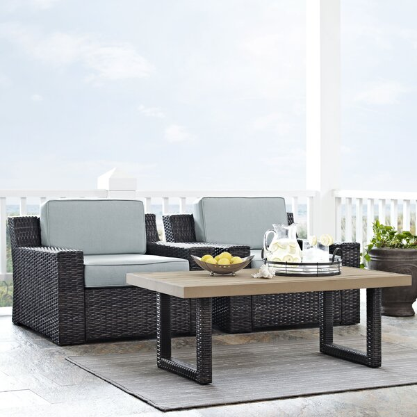 Linwood 3 Piece Seating Group with Cushions by Beachcrest Home Beachcrest Home