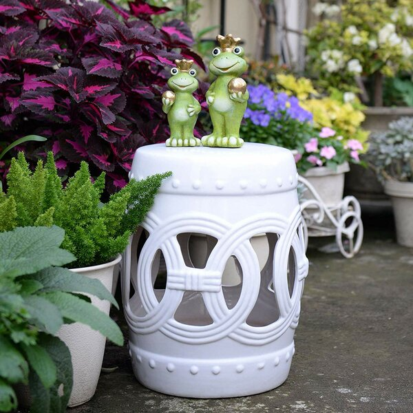 Harwich Ceramic Garden Stool by Bungalow Rose Bungalow Rose