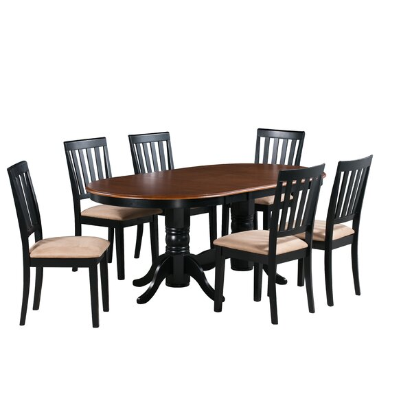 Find Schacht 7 Piece Extendable Solid Wood Dining Set By Winston Porter Herry Up