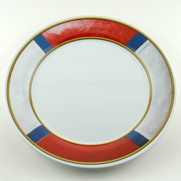 Decorated Melamine Life Preserver Non-skid Platter (Set of 2) by Galleyware Company