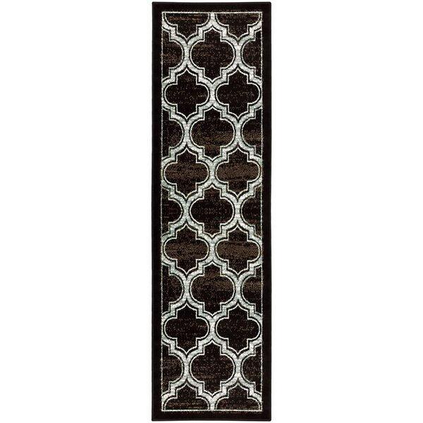 Angelita Trellis Black Area Rug by Winston Porter