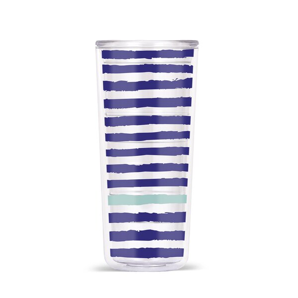 Ingham Stripes & Spirals 18oz Double Wall Tritan Travel Tumbler (Set of 4) by Latitude Run