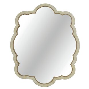 Gabby Rita Bone Scalloped Accent Mirror