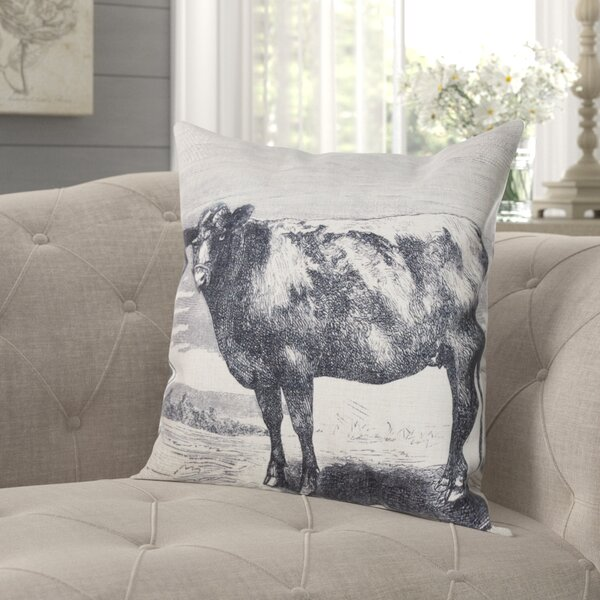 Yarnell Farmhouse Cow Throw Pillow by Gracie Oaks
