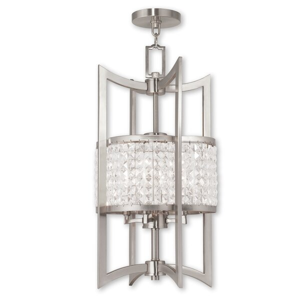 Wetzel 4 - Light Unique / Statement Geometric Chandelier With Crystal Accents By Willa Arlo Interiors