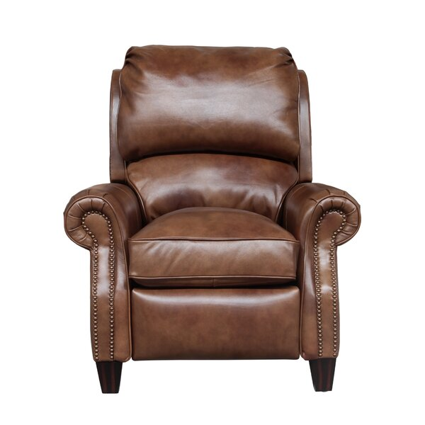 Churchill Leather Manual Recliner by Darby Home Co