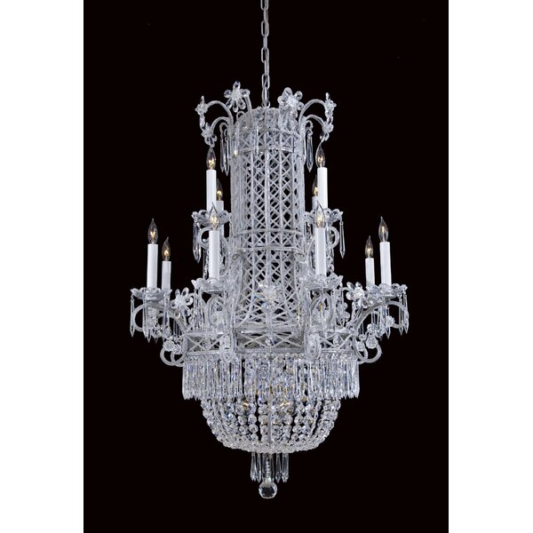 12-Light Candle Style Empire Chandelier By Metropolitan By Minka
